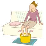 冷えによる下痢は足湯も効果的