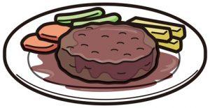 下痢の原因は脂の多いハンバーグに